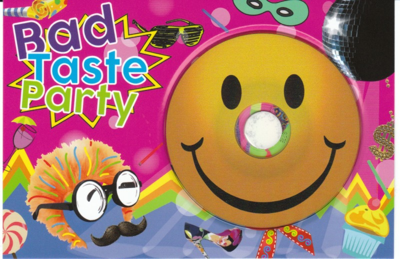 CD-Postkarte mit Smiley CD-R