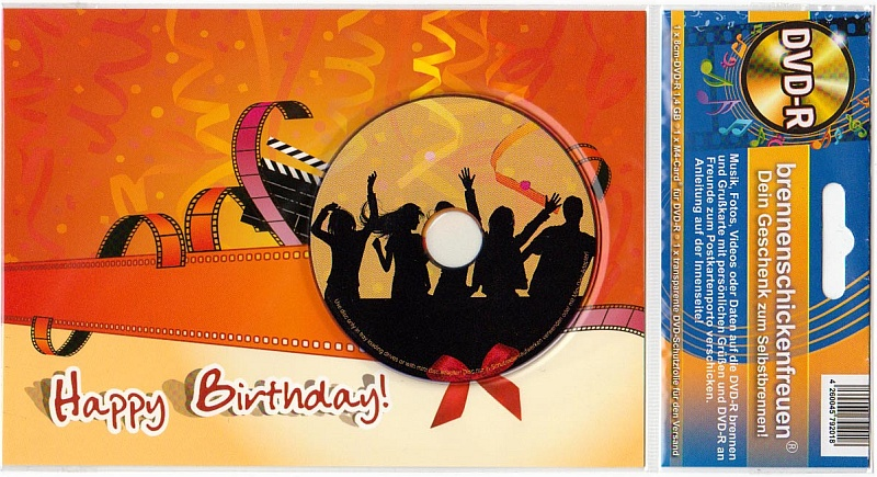 Happy Birthday Party mit DVD-R