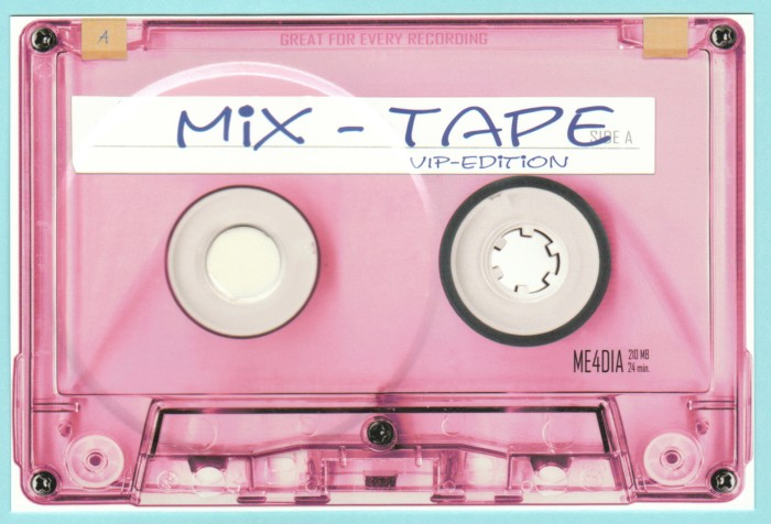 Mix-Tape Postkarte Vorderseite