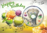 Elefunky Birthday Card front